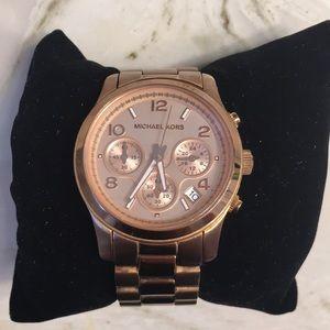 Michael Kors Runway Watch Rose Gold-Tone Watch